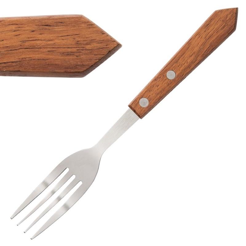Fourchettes à viande manche en bois