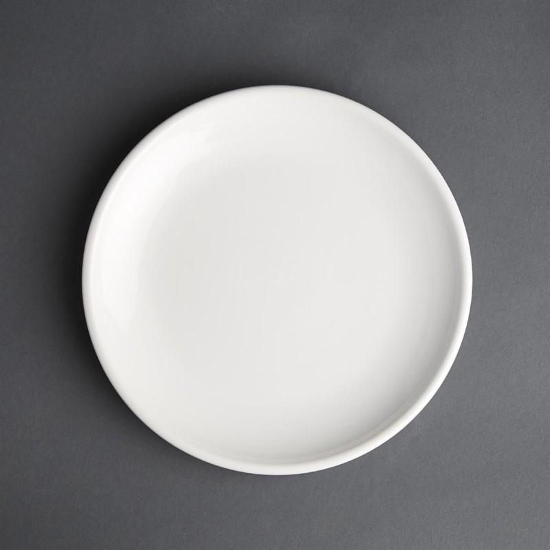 Assiette plate blanche Olympia Café 205mm - Lot de 12
