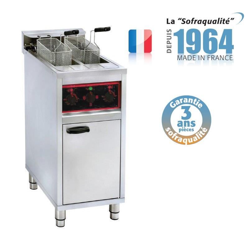 Friteuse électrique sur coffre - 2 x 10 litres