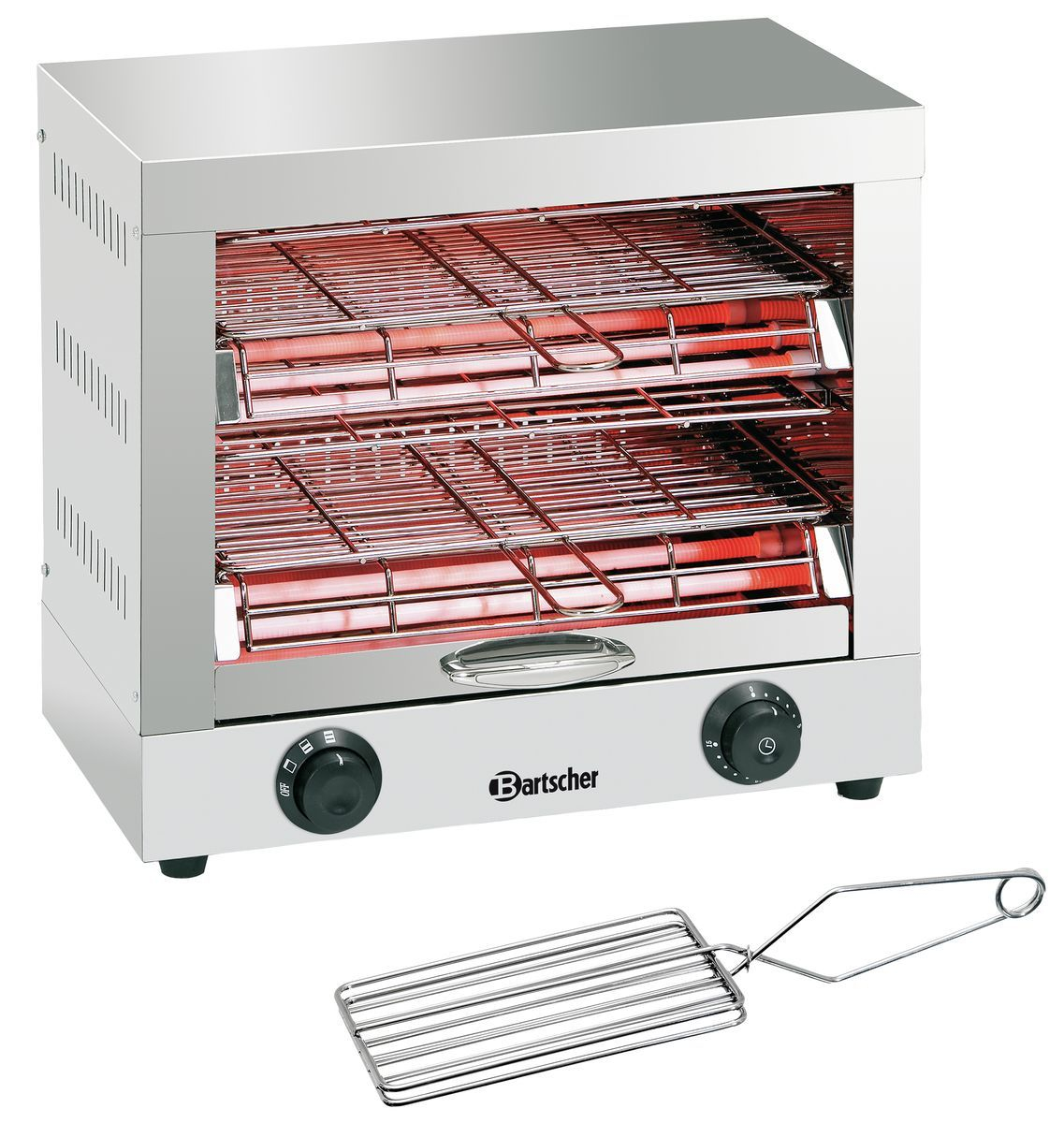Appareil toaster/gratiner, double