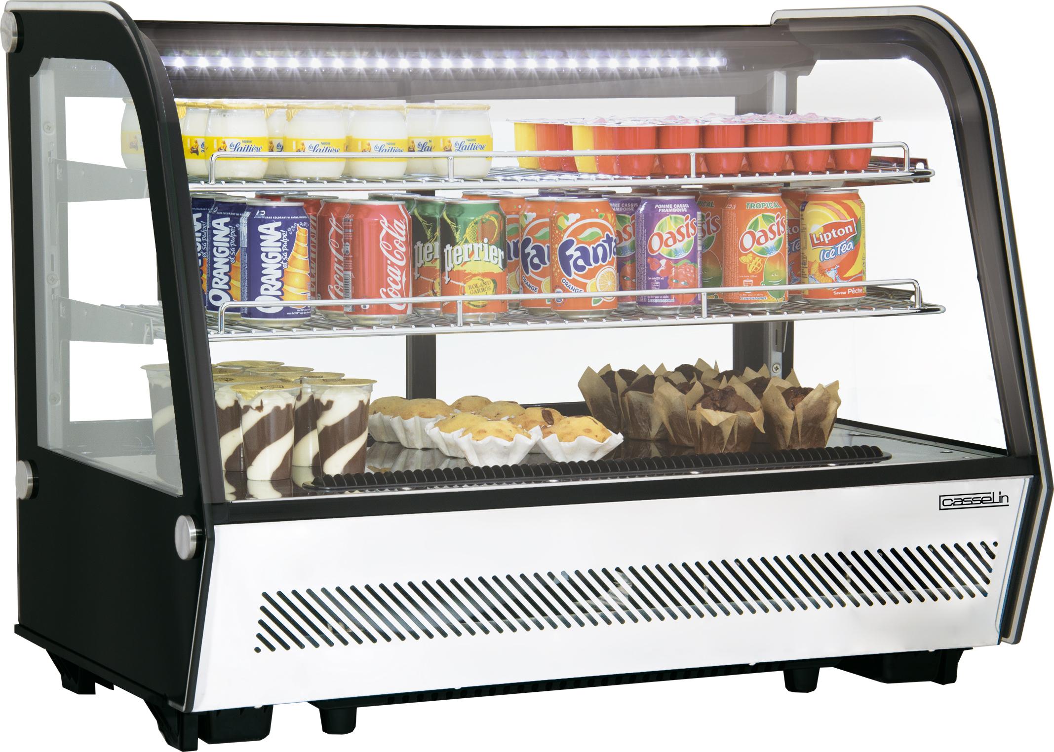 Vitrine réfrigérée à poser 160L