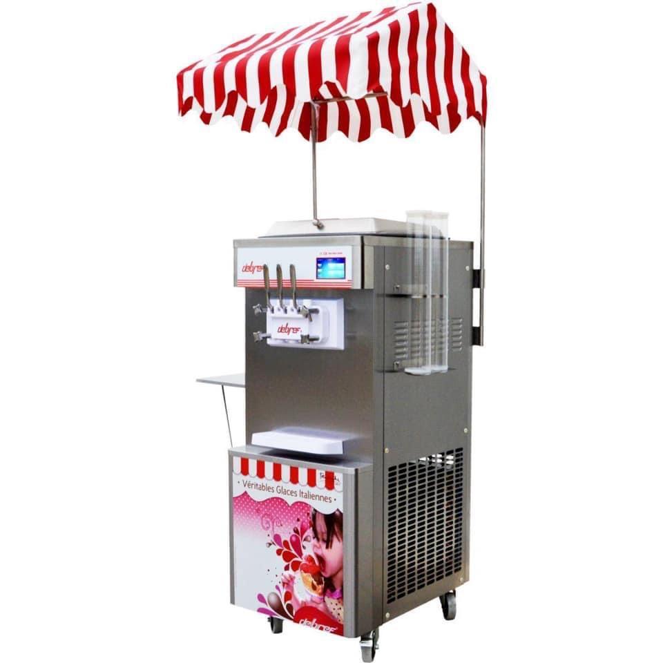 Machine à glace à l'italienne - 3 parfums - 2,7 kw