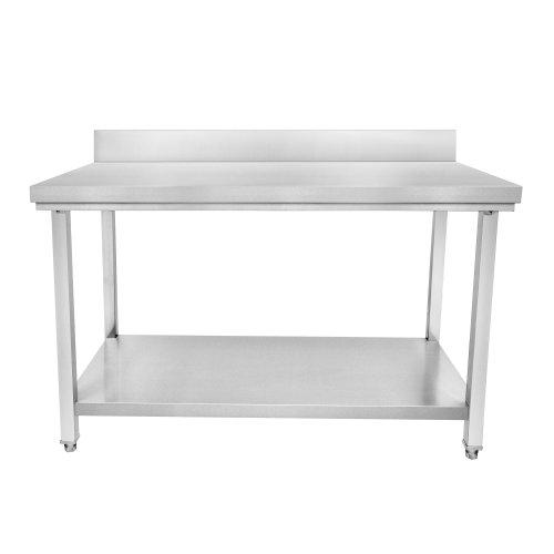 Table inox adossé - L x P : 1000 x 600mm