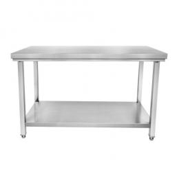 Table inox centrale - L x P : 1000 x 600 mm