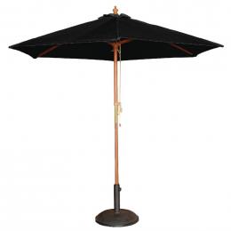 Parasol rond Bolero noir 2,5m