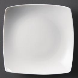 Assiettes creuses carrées blanches - Lot de 6