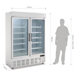 Vitrine réfrigérée négative deux portes avec bandeau lumineux