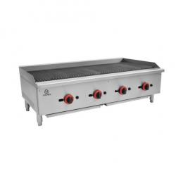 Grill charcoal à gaz - L 1204mm