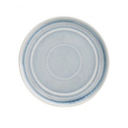 Assiette plate bleu cristallin Olympia Cavolo 18 cm - Lot de 6